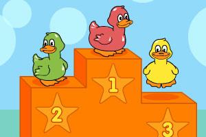 《小鸭子游泳赛》游戏画面1