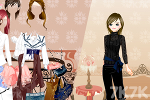 《优雅OL秋款换装》游戏画面3