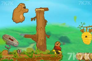 《小熊父子偷蜂蜜》游戏画面1