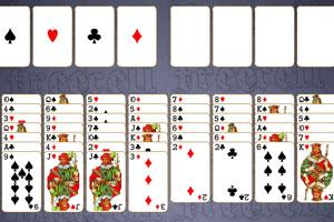 《贝克纸牌接龙》游戏画面1
