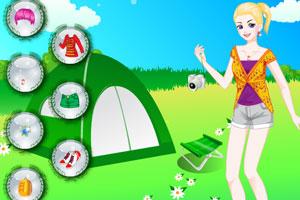 《野营女孩换装》游戏画面1