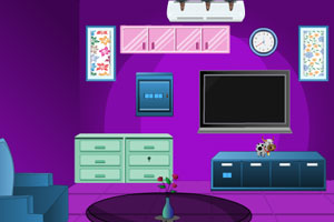 《逃离紫色小屋》游戏画面1