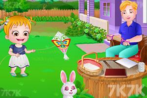 《可爱宝贝放风筝》游戏画面1