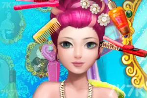 《豪华舞会发型》游戏画面1