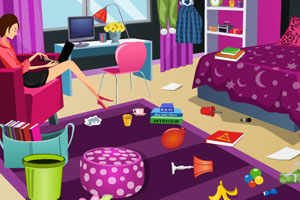 《清理卧室》游戏画面1