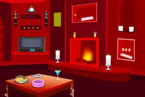 《逃出亮红色房间》游戏画面1