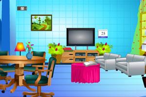 《逃离蓝色客厅》游戏画面1