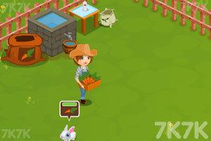 《照顾农场里的小兔子》游戏画面2