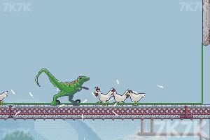 《恐龙大战嗜血公鸡》游戏画面2