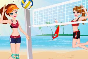 沙滩排球比赛装扮