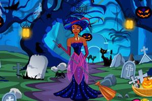 《公主万圣节清理墓地》游戏画面1