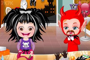《可爱宝贝的城堡万圣节》游戏画面1