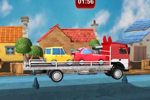 《3D大卡车拖小轿车》截图1