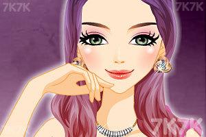 《神秘女子的多彩发型》游戏画面3