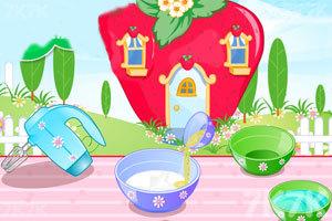 《制作草莓小蛋糕》游戏画面1