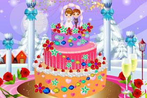 《冬季婚礼蛋糕》游戏画面1