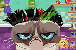 《愤怒猫的新发型》游戏画面1