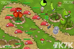 《花园塔防战2无敌版》游戏画面1