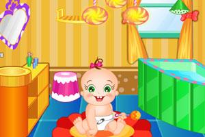 《布置宝贝浴室》游戏画面1