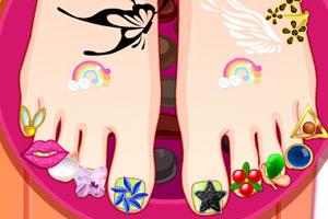 《漂亮的足部美甲》游戏画面1