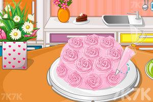 《漂亮的花朵蛋糕》游戏画面2