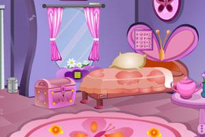 《逃出蝴蝶主题卧室》游戏画面1