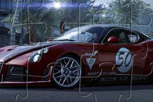 《阿尔法8C跑车拼图》游戏画面1