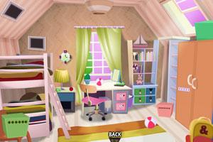 《高架床卧室逃脱》游戏画面1