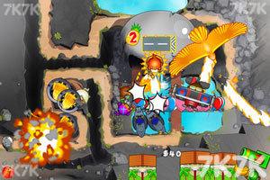 《小猴子守城5万圣节无敌版》游戏画面4