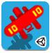 红色双翼小飞机