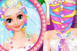 《长发公主的婚礼美发》游戏画面1