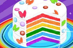 好吃的彩虹蛋糕