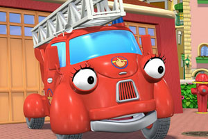 《动画消防车拼图》游戏画面1