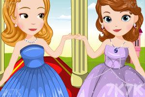 《索菲亚和琥珀的聚会装扮》游戏画面1