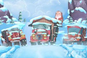 《圣诞老人开卡车》游戏画面6