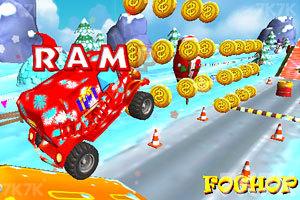 《圣诞老人开卡车》游戏画面2