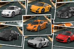 《迷你卡通汽车拼图》游戏画面1