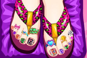 美丽的脚趾甲