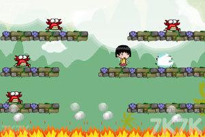 《小丸子抓螃蟹无敌版》游戏画面2