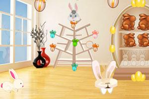 《复活节白兔居室逃脱》游戏画面1