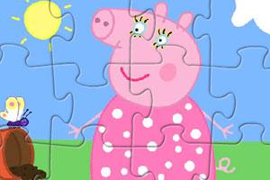 《粉红猪阿姨拼图》游戏画面1