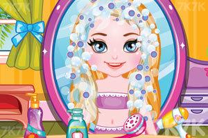 《莎拉的新发型》游戏画面2