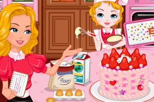 和妈妈一起做蛋糕