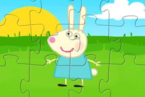 《可爱小白兔拼图》游戏画面1