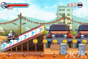 《鸟哥摩托特技》游戏画面5