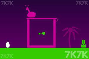《长耳朵小绿怪H5版》游戏画面2