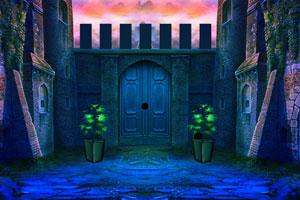 《深蓝色城堡逃脱》游戏画面1