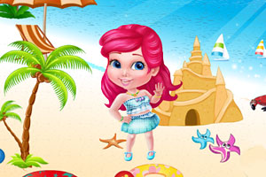 索菲亚公主在沙滩