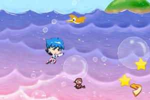 《深蓝少年之躲避流星》游戏画面1