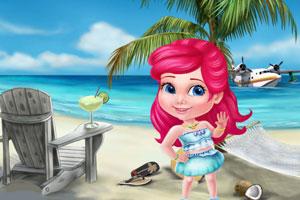 公主的海滩乐趣